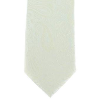 Michelsons of London Tonal Paisley Polyester Tie - Cream