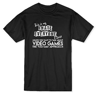 This Is My I Hate Everyone T-Shirt Gaming Style Men's T-shirt