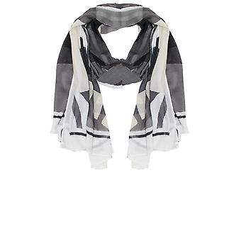 Sandwich Clothing Grey Bold Print Scarf