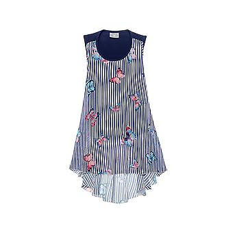 Alouette Girls' Striped Dress With All Over Motives