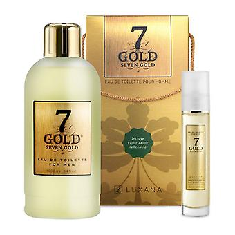 Men's Perfume Set Seven Gold Luxana (2 pcs)