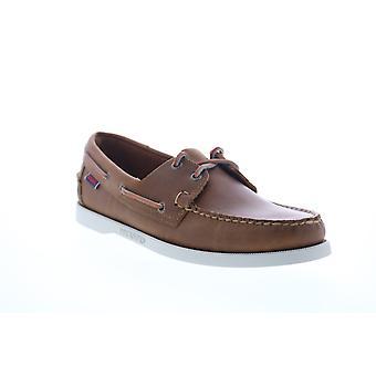 Sebago Portland  Mens Brown Leather Loafers & Slip Ons Boat Shoes