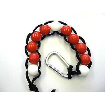 Deluxe Large Golf Stroke Score Counter Beads With Carabiner Clip