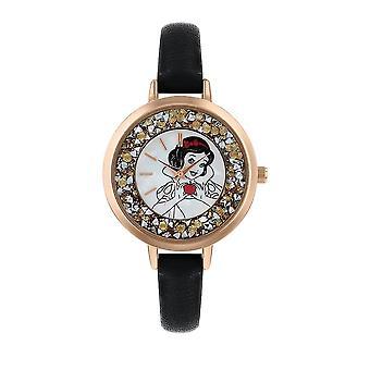 Disney Schneeweiß Glitzer Quarz analoge Armbanduhr