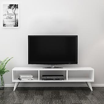 Mobile Manolya White Color TV Port in Melaminic Chip, PVC 120x35x40 cm