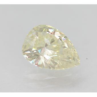 Certified 0.71 Carat K VS1 Pear Enhanced Natural Loose Diamond 7.17x5.41mm 2VG