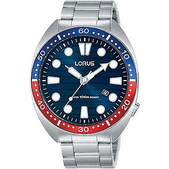 Lorus RH925LX-9 Blue Dial Stainless Steel Wristwatch