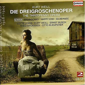 K. Weill - Kurt Weill: Die Dreigroschenoper; Songs [CD] USA import