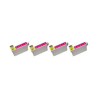 RudyTwos 4 x замена пурпурный подразделение чернил Epson СОВА совместимых с Stylus фото 79, 1400, 1410, 1500W, P50, PX650, PX660, PX700W, PX710W, PX720WD, PX730WD, PX800, PX800FW, PX810FW, PX820FWD, PX830