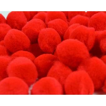 Trimits PP5R - Red Pom Poms – 50mm – 25 pack