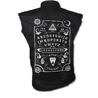 Darkside - ouija board  - sleeveless workers shirt - black