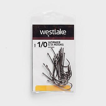 Westlake 20Pk Worm Hooks Sz 1/0 Natural