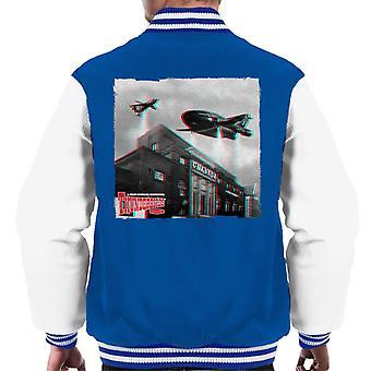 Thunderbirds 2 ja 3 lentävät yli Granada Studios miesten ' s Varsity takki