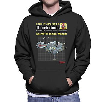 Thunderbirds Agenter Teknisk Manual Thunderbird 5 Män & apos, s Hooded Sweatshirt