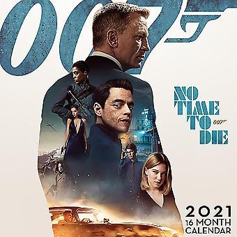 James Bond 007 Kalender 2021 Officiële muurkalender 2021, 12 maanden, originele Engelse versie.