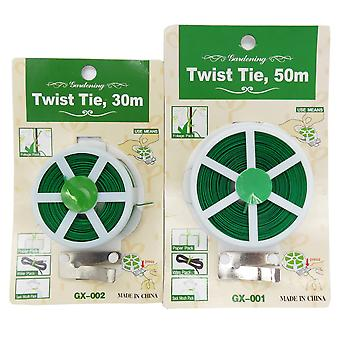 Plant Twist Tie With Cutter Sturdy Coated Wire For Gardening, Home Office