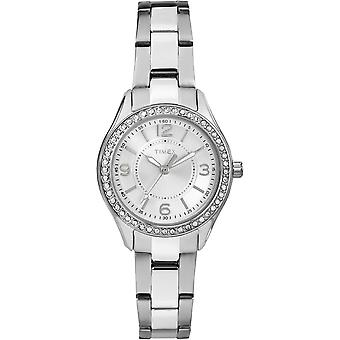 TW2P79800, City Miami Elevated Classic Crystals Ladies Watch / Blanc