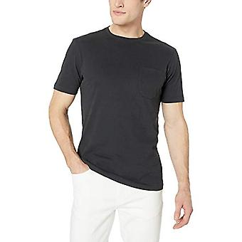 Goodthreads Men's Kurzarm Sueded Jersey Crewneck Pocket T-Shirt, schwarz, XXX-large
