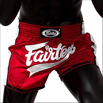 Fairtex slim cut muay thai shorts - red white