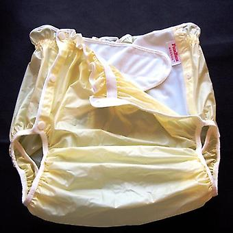 Yellow M 1pcs Adult Diapers - Non Disposable  Adult Pvc Shorts Diapers For Adult