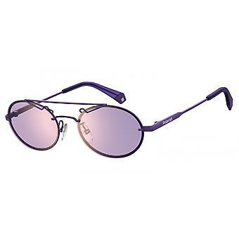 نظارات شمسية للجنسين 6094/S01Q/HE البيضاوي البنفسجي / الذهب