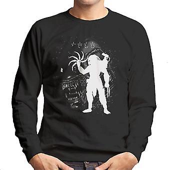 Alien Predator Black Ink Men's Sweatshirt