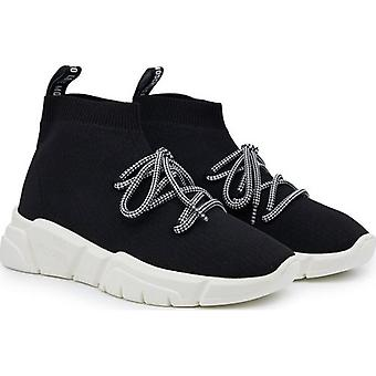 Love Moschino Footwear Logo Lace Up Sock Trainers