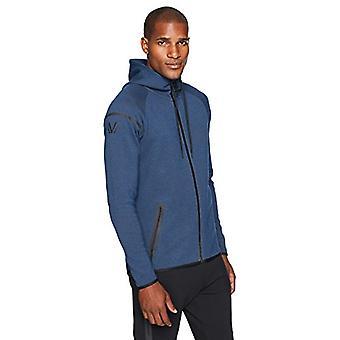 Peak Velocity Men's Metro Fleece Full-Zip Athletic-Fit Hoodie, bolt blue heat...
