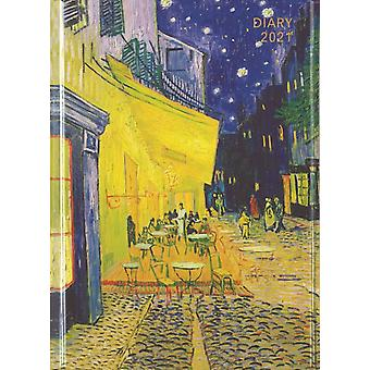 Vincent Van Gogh Cafe Terras Pocket Diary 2021 door Gemaakt door Flame Tree Studio