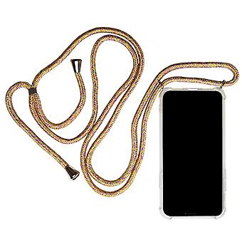 iPhone 11 Necklace Shockproof Mobile Case Mobile Case Mobile Protection TPU Rem Rainbow