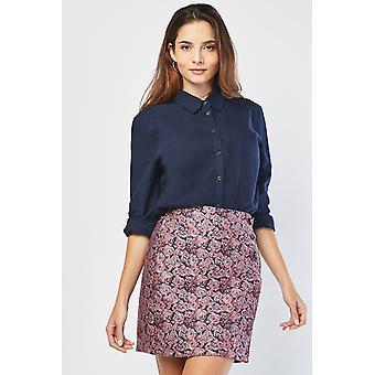Flower Embroidered Mini Skirt 675788