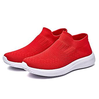 Damen Sneakers Slip-On Atmungsaktive bequeme Casual Schuhe