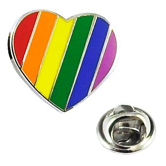 Ties Planet Rainbow Gay Lgbt Pride Amore Cuore Risvolto Pin Badge