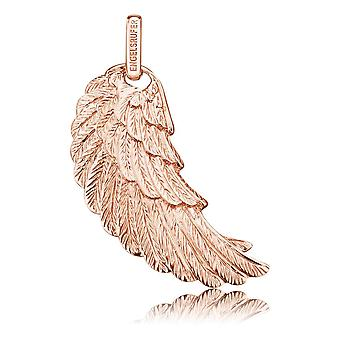 Angel Whisperer Angel Wing Sterling Silver Rose Banhado 29mm Pendente ERW-M-R