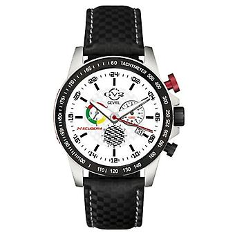 GV2 van Gevril Men's 9915 Scuderia SS Case ALARM Chrono Day/Date Leather Watch