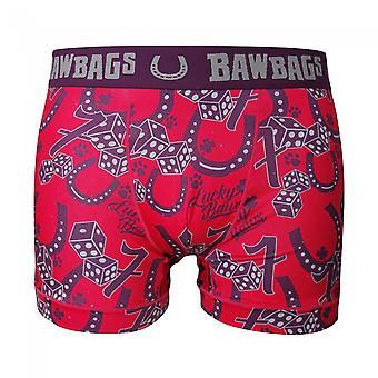 Bawbags كول دي Sacs لاكي بوكسر شورت - الأحمر - XL