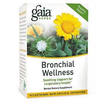 Gaia Herbs Bronchial Wellness Tea, 16 bags(Case of 6)