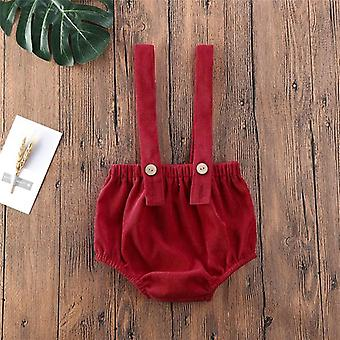 8 Colors Baby Corduroy Overalls Suspender Rompers 0-24m Newborn Toddler Boys / Girls Shorts Sling Bodysuit / Jumpsuit