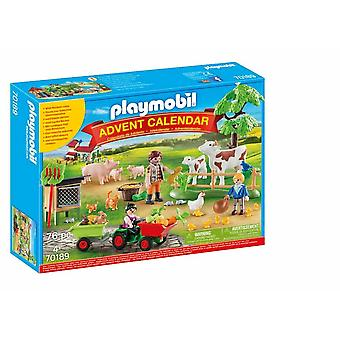Playmobil 70189 farm advent calendar playset 76 pcs for ages 4 and above