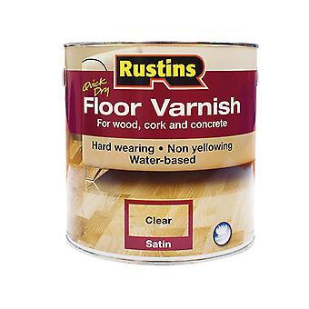 Rustins Quick Dry Floor Varnish Gloss 1 Litre RUSQDFVG1L