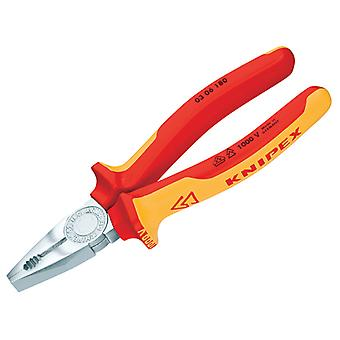 Knipex Combination Pliers VDE Grip 180mm KPX0306180