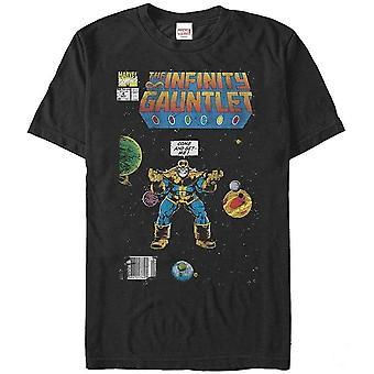 Marvel Unisex aikuisten infinity Gauntlet kattaa Thanos Design T-paita