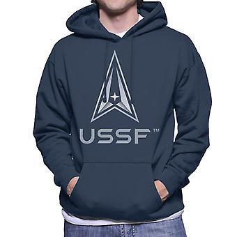 U.S. Space Force USSF Lighter Text Men's Hooded Sweatshirt