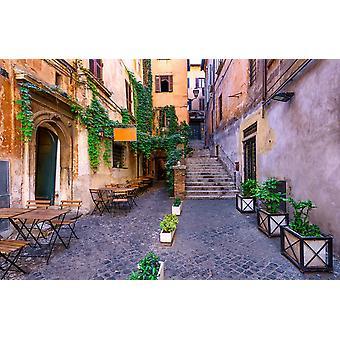 Vægmaleri gade i Rom