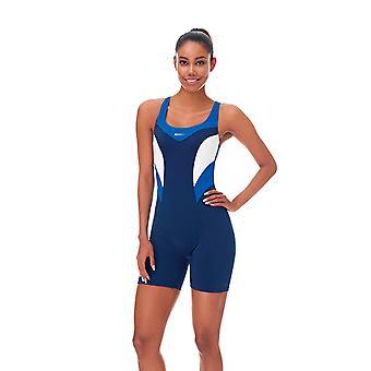 Aqua Perla المائية الأزرق سباق السباحة ملابس SPF 50 +