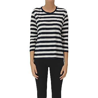 Eleanor California Ezgl582002 Women's White/blue Cotton Sweater