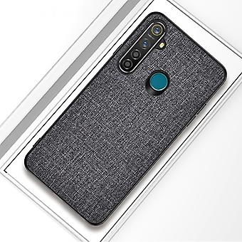For OPPO Realme 5 Pro Shockproof Cloth Texture PC+ TPU Protective Case(Grey)