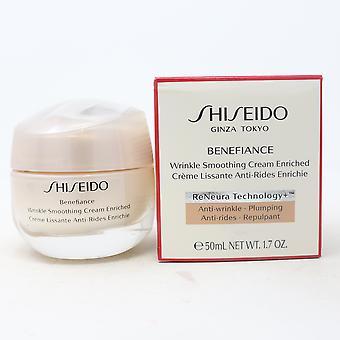 Shiseido Benefiance Rynke Glatting Cream Beriket 1.7oz/50ml Ny Med Box