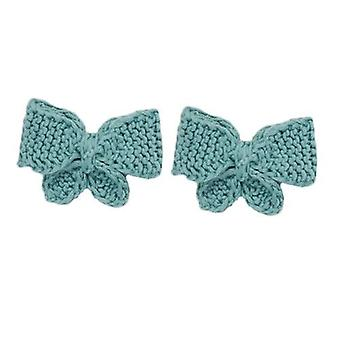 Puff Kids Girls Bow Tie Hair Clips Beautiful Hand Made Accessories