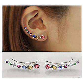 Super Shiny Zircon Sterling Silver Earring Jewelry